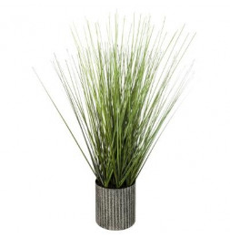 Herbe artificielle en pot - H 45 cm
