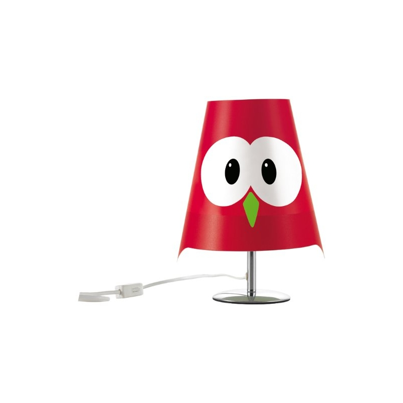 lampe de table chouette emy rouge luminaire d 39 int rieur lucignolo ac deco. Black Bedroom Furniture Sets. Home Design Ideas