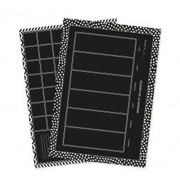 Set de 2 planches de stickers muraux - Semainier - 49 x 69 cm