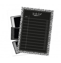 Set de 2 planches de stickers muraux - To do list - 34,5 x 49 cm