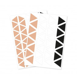 Set de 2 planches de stickers muraux - Triangles - 23 x 35 cm