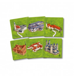 Carcassonne - Abbayes d'Allemagne - Jeu famille