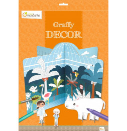 Décor à colorier - Zoo