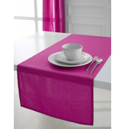 Chemin de table coton 50 x 150 cm - Rose - Linge de table