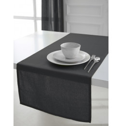 Chemin de table coton 50 x 150 cm - Gris anthracite - Linge de table