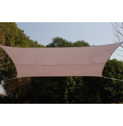 Voile d'ombrage rectangulaire - Taupe - Toile solaire 3 x 4 m