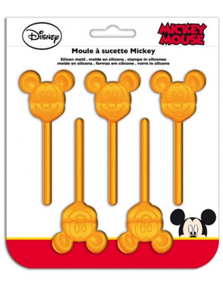 Moule à sucettes Mickey - Silicone - Orange