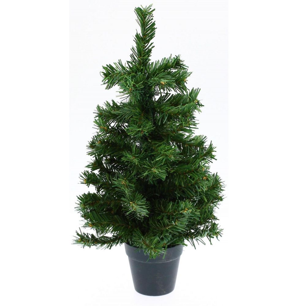 sapin artificiel de table vert - h 45 cm