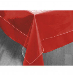 Toile cirée de protection rectangulaire transparente - 140 x 300 cm - Linge imperméable