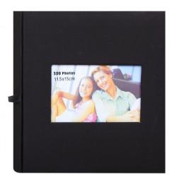 Album photos à pochettes 11,5 x 15 cm - 300 photos - Square - Noir