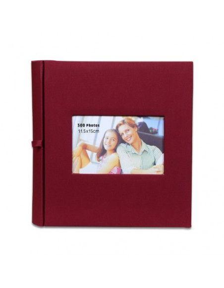 Album photos à pochettes 11,5 x 15 cm - 300 photos - Square - Bordeaux