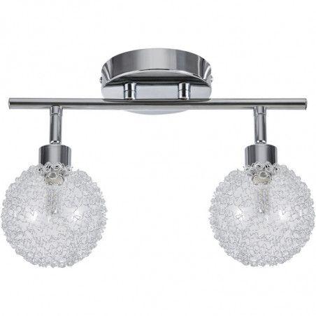 Plafonnier globes  - D 32 x H 18 cm - 2 lumières