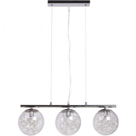 Suspension luminaire - Ada - 3 boules - D 19 cm