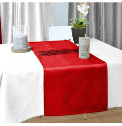 Chemin de table samourai - 40 x 140 cm - Rouge - Linge de table