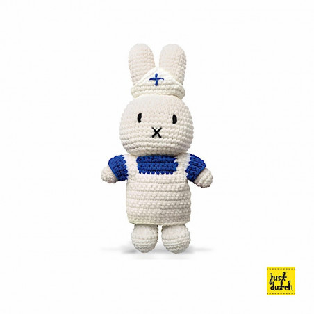 Doudou Infirmière - L 25 x l 10 x H 5 cm - Miffy - Blanc