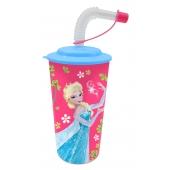 Gobelet à paille 3D - La reine des neiges - Verre incassable