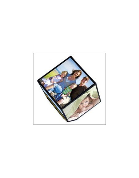 Cadre photo tournant électrique - 6 faces 11 x 11 cm