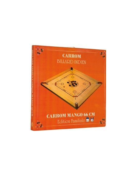 Table de jeu Carrom - Billard indien - 83 x 83 cm