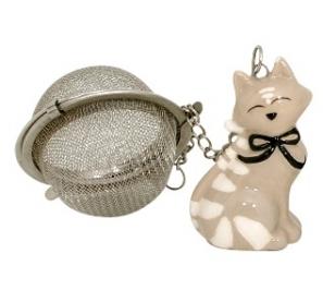 Boule à thé décoration chat - Kidcat - Infuseur beige