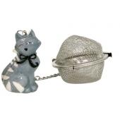 Boule à thé décoration chat - Kidcat - Infuseur gris