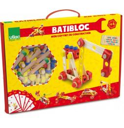 Jeu de construction 100 pièces en bois - Batibloc - 4 à 8 ans
