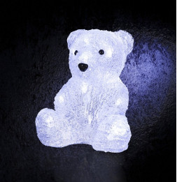 Décoration lumineuse Ourson - 16 LED blanc froid - A piles
