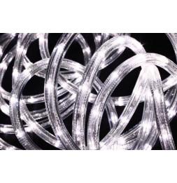 Tube lumineux guirlande à LED 10m - Blanc - 8 fonctions