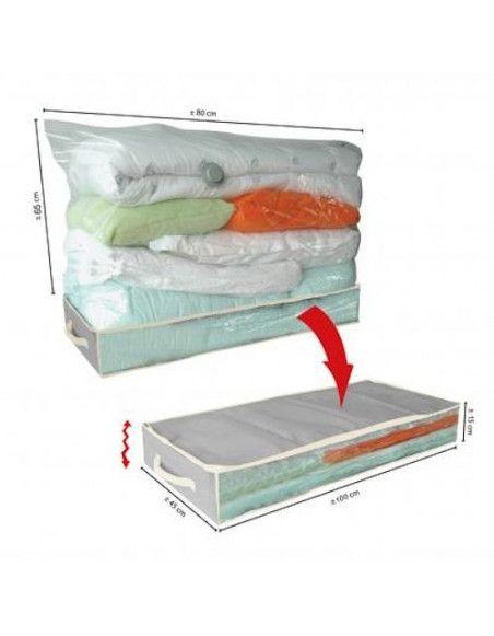 Boîte de rangement dessous de lit - 100 x 45 x 15 cm - Rangement du linge