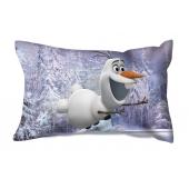 Coussin rectangulaire violet - 36 x 22 cm - Olaf la reine des neiges