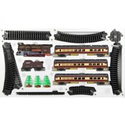 Coffret circuit de train avec locomotive et wagons - 24 pièces