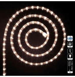 Tube lumineux guirlande à LED 18m - Blanc chaud - 8 fonctions
