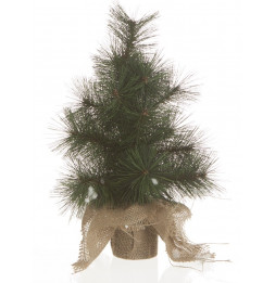 Sapin artificiel de table vert - H 40 cm - Réaliste