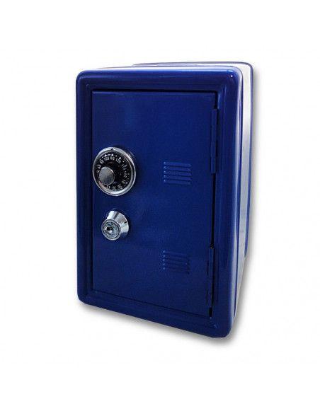 Coffre fort métal - Tirelire sécurisée - Bleu