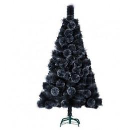 Sapin de Noël artificiel paillettes effet boules - 150 cm - Noir