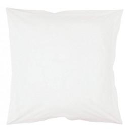 Taie d'oreiller 75 x 75 cm - Blanc - 100% coton percale