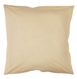 Taie d'oreiller 75 x 75 cm - Beige - 100% coton percale