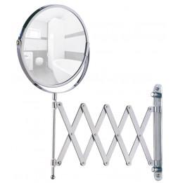 Miroir de beauté mural avec bras télescopique - Wenko - Argenté D 17 cm