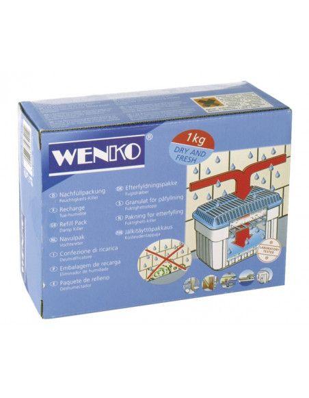 Absorbeur d'humidité et bloc de chlorure de calcium - Wenko - Blanc