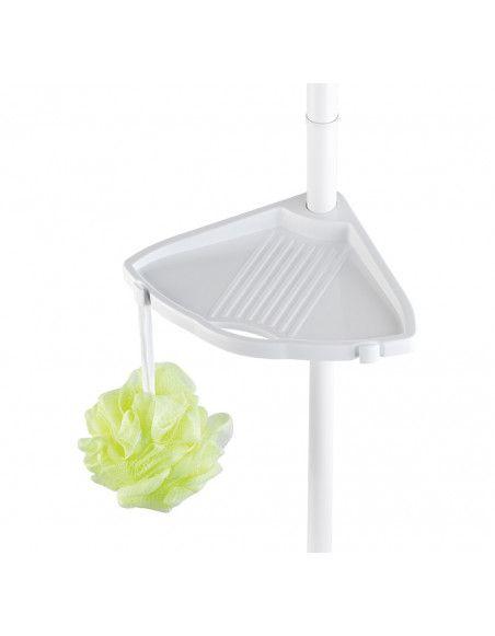 Etagère de douche télescopique 4 tablettes - Wenko - Blanc