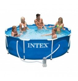 Kit piscine tubulaire ronde 3m05 - Epurateur à cartouches inclus -  Intex