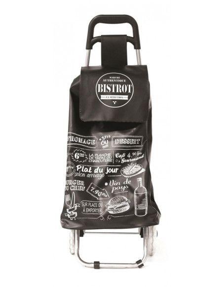 Chariot de courses Bistrot - Noir - Poussette de marché