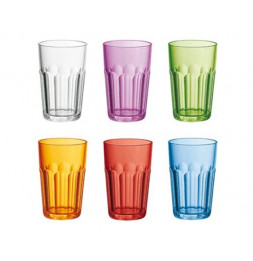 Verres multicolores - Lot de 6 - Guzzini