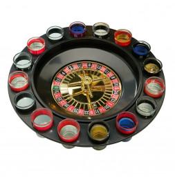 Jeu de roulette à boire avec 16 verres à shot et 2 billes
