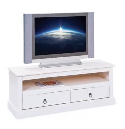 Meuble TV provence - Blanc - L 118 cm