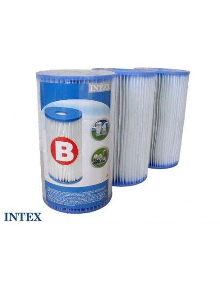 Lot de 3 Cartouches de filtration pour piscine - type B - Intex