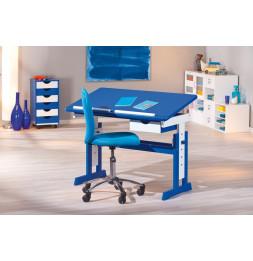 Bureau pour enfant avec plateau inclinable - Pupitre bleu