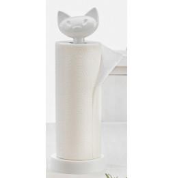 Porte rouleau essuie-tout Miaou - Blanc - Koziol