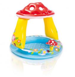 Piscine avec pare soleil champignon - Pataugeoire gonflable