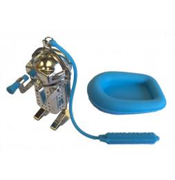 Infuseur à thé - Plongeur - Bleu