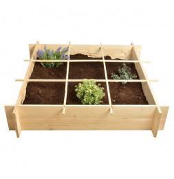 Carré à potager en bois - Cube de plantation